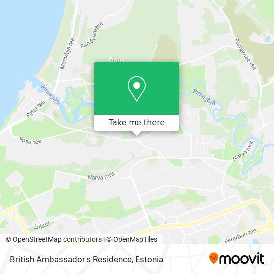 British Ambassador's Residence map