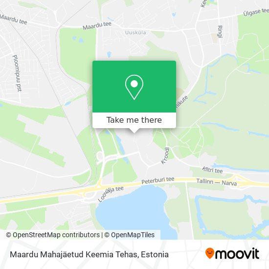 Maardu Mahajäetud Keemia Tehas map