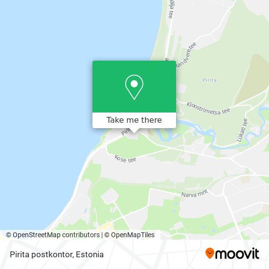 Pirita postkontor map
