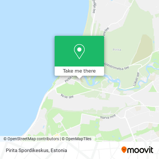 Pirita Spordikeskus map