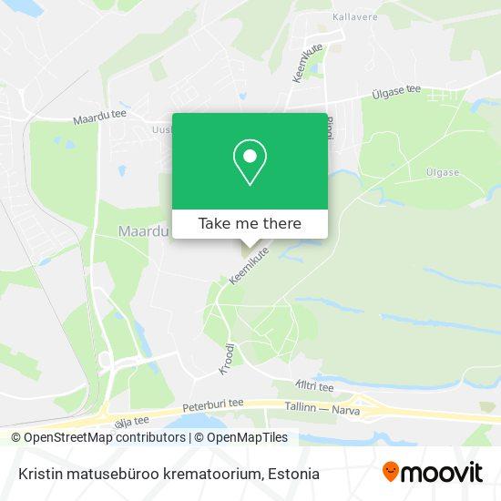 Kristin matusebüroo krematoorium map