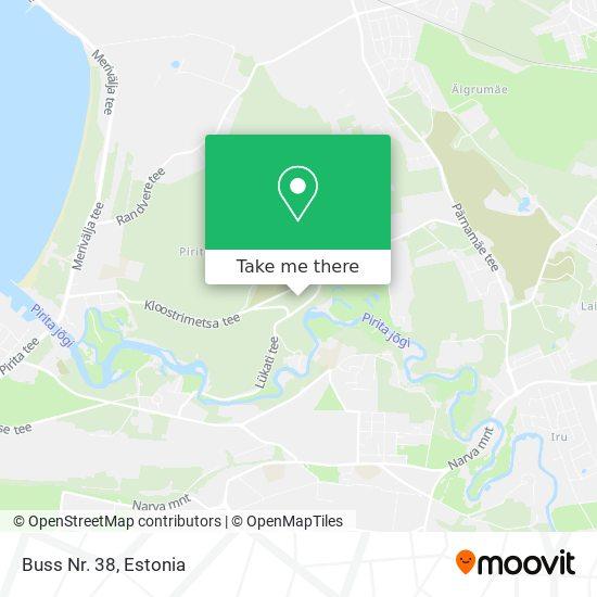 Buss Nr. 38 map
