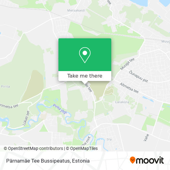 Pärnamäe Tee Bussipeatus map