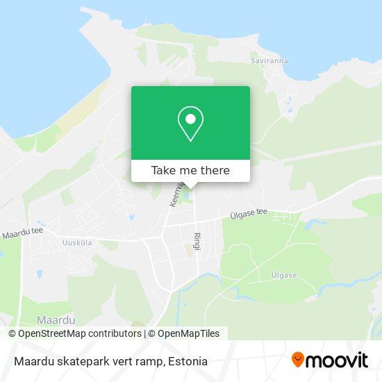 Maardu skatepark vert ramp map