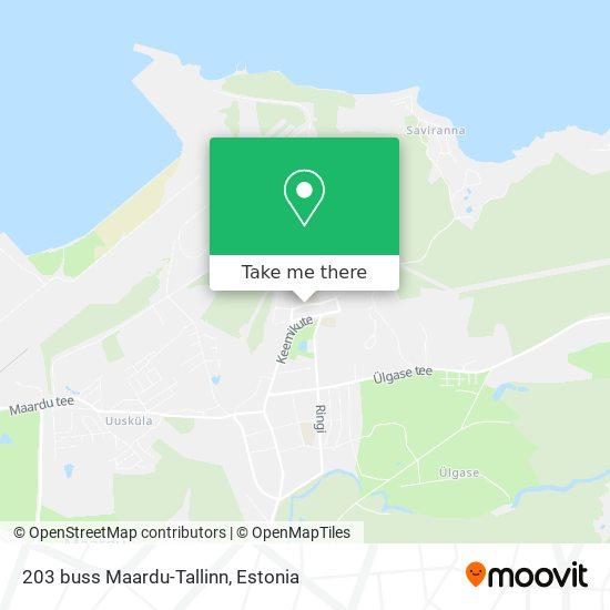 203 buss Maardu-Tallinn map