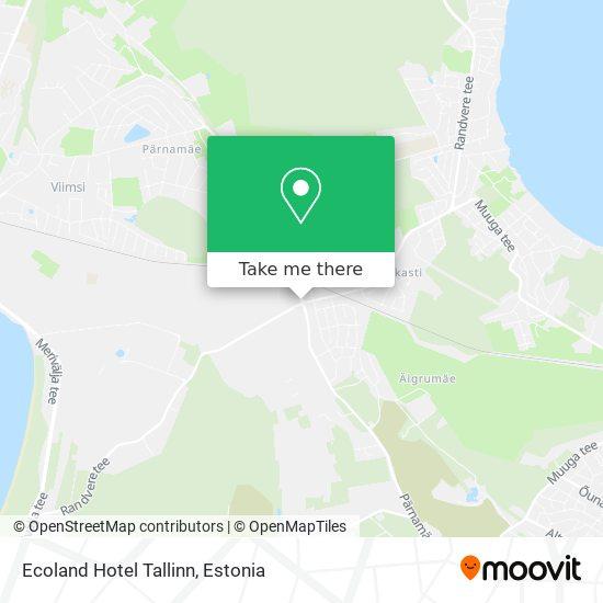 Ecoland Hotel Tallinn map