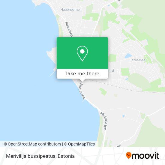 Merivälja bussipeatus map