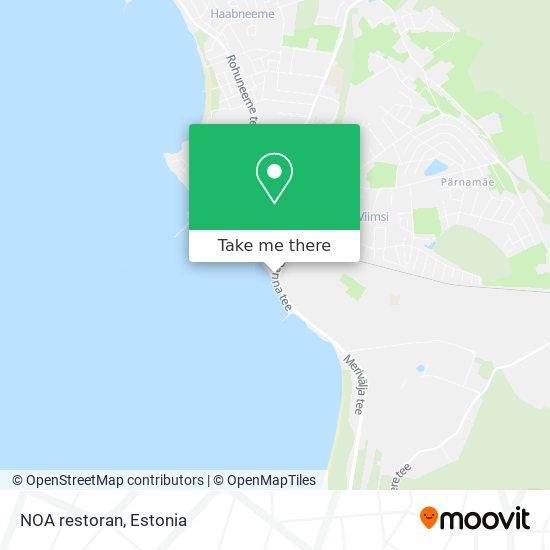 NOA restoran map