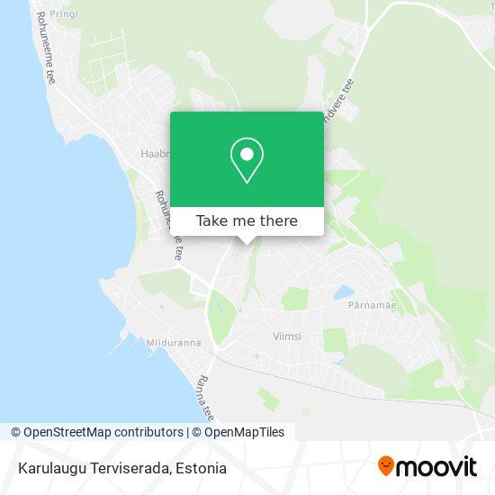 Karulaugu Terviserada map