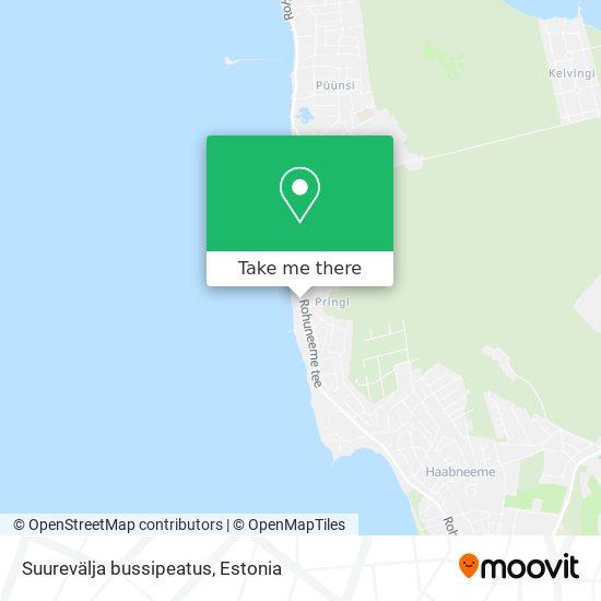 Suurevälja  bussipeatus map