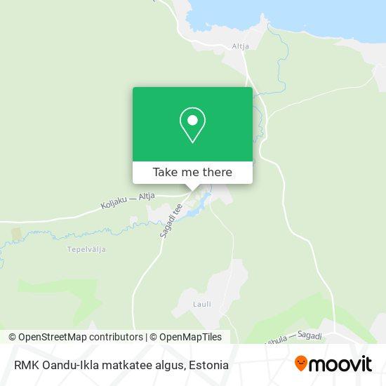 RMK Oandu-Ikla matkatee algus map