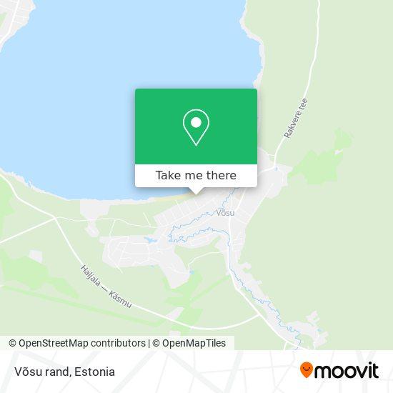 Võsu rand map