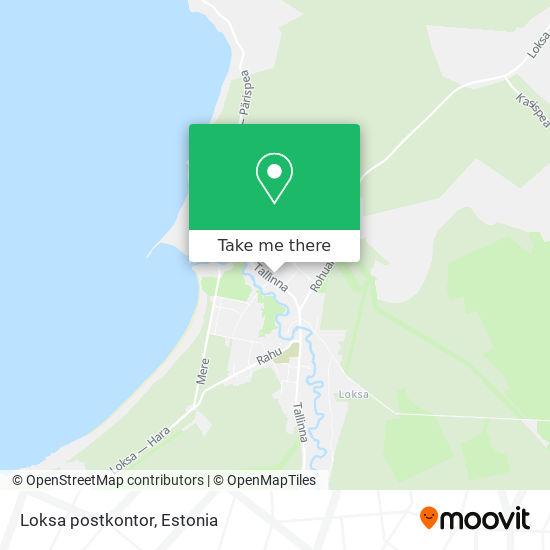 Loksa postkontor map