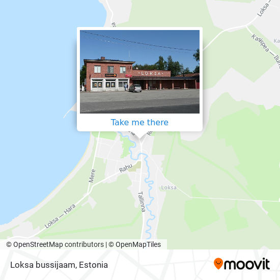 Loksa bussijaam map