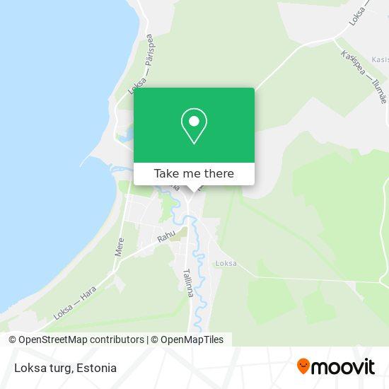 Loksa turg map