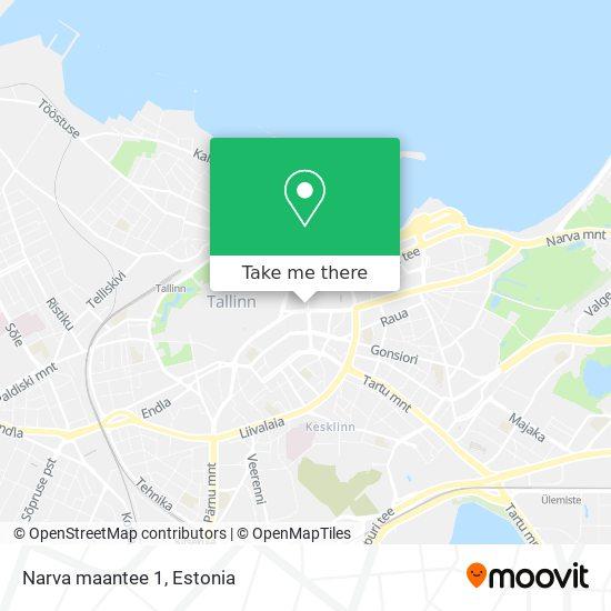 Narva maantee 1 map