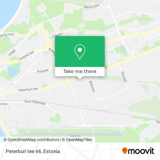 Peterburi tee 66 map