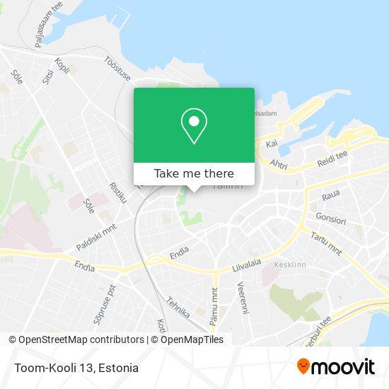Toom-Kooli 13 map