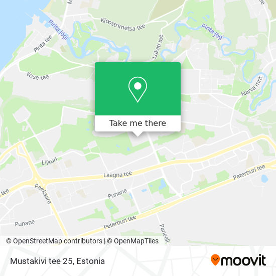 Mustakivi tee 25 map