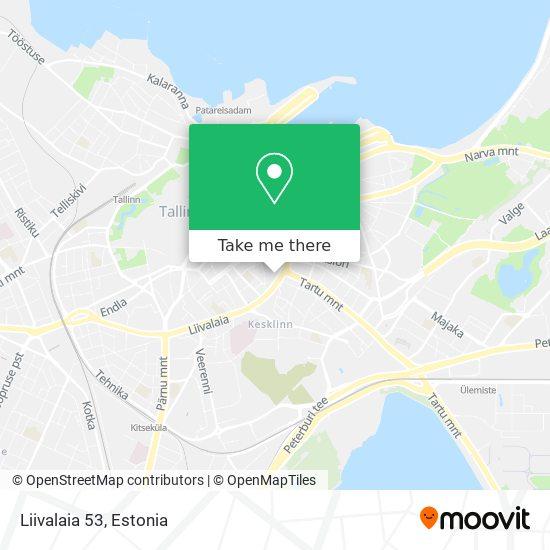 Liivalaia 53 map