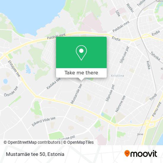 Mustamäe tee 50 map