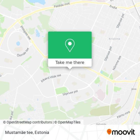 Mustamäe tee map
