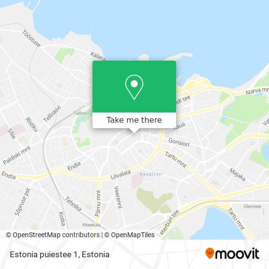 Estonia puiestee 1 map