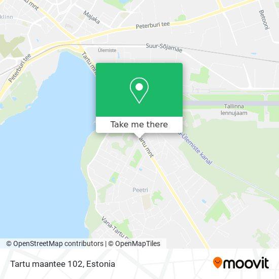 Tartu maantee 102 map