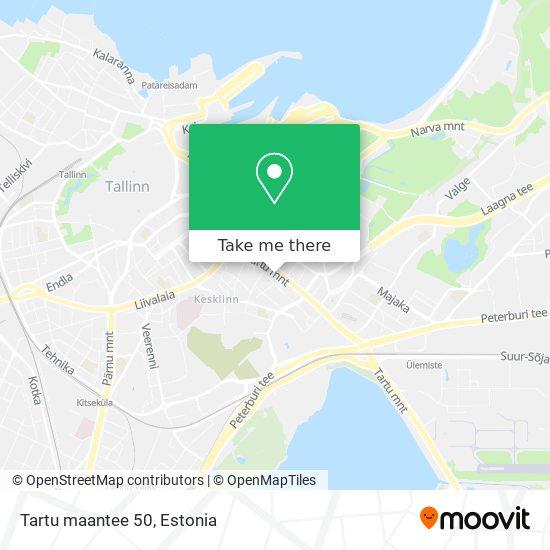 Tartu maantee 50 map