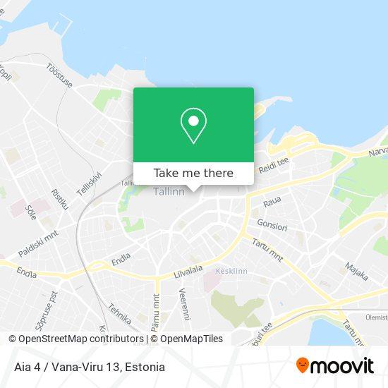 Aia 4 / Vana-Viru 13 map