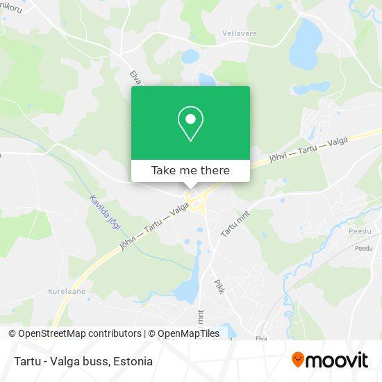 Tartu - Valga buss map