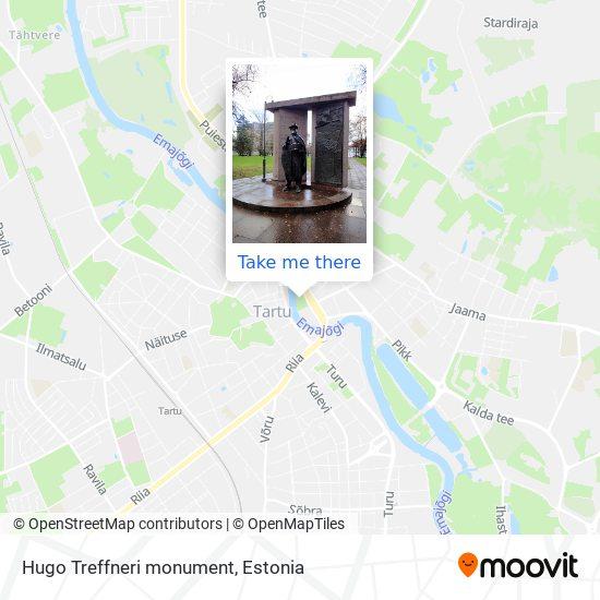 Hugo Treffneri monument map
