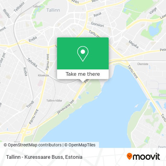 Tallinn - Kuressaare Buss map