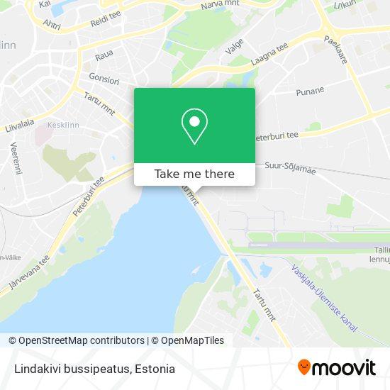 Lindakivi bussipeatus map