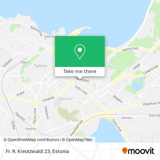 Fr. R. Kreutzwaldi 23 map