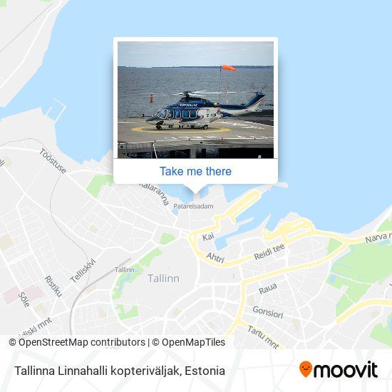 Tallinna Linnahalli kopteriväljak map