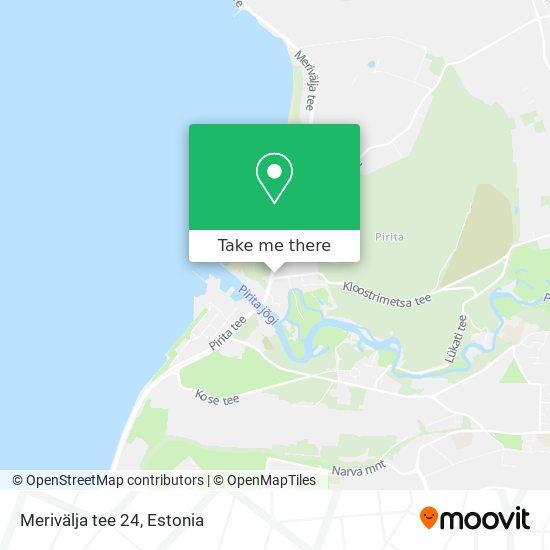 Merivälja tee 24 map