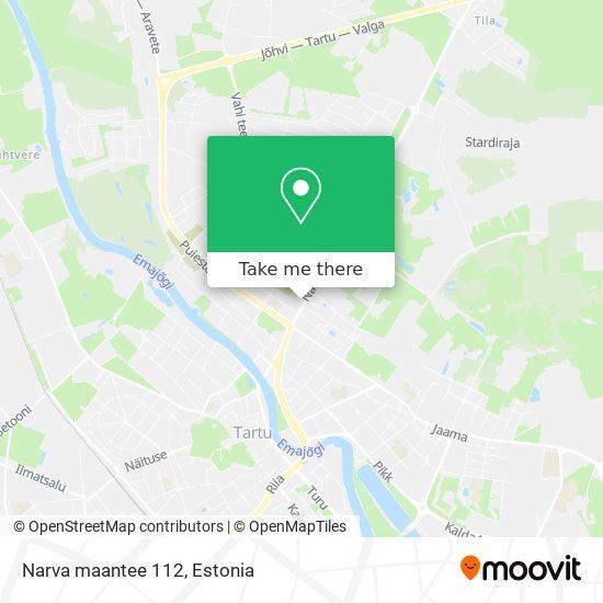 Narva maantee 112 map