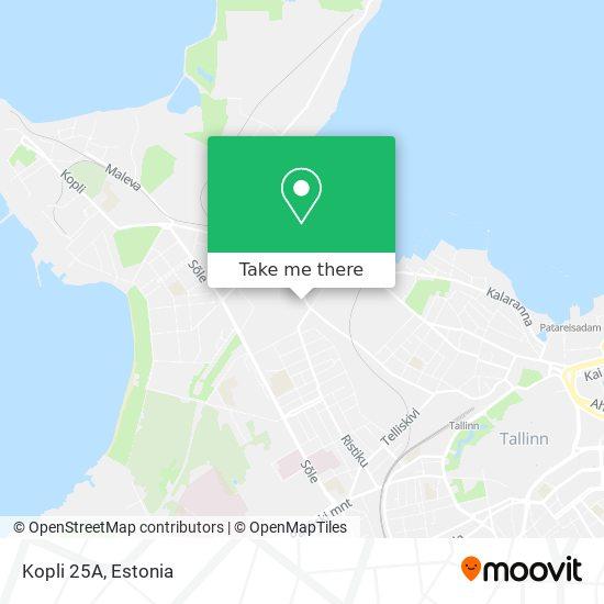 Kopli 25A map