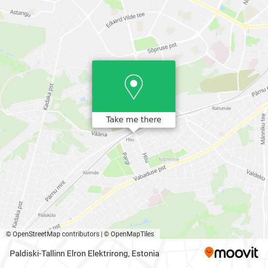 Paldiski-Tallinn Elron Elektrirong map