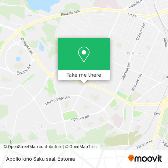 Apollo kino Saku saal map