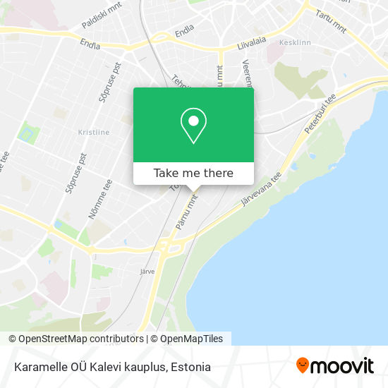 Karamelle OÜ Kalevi kauplus map