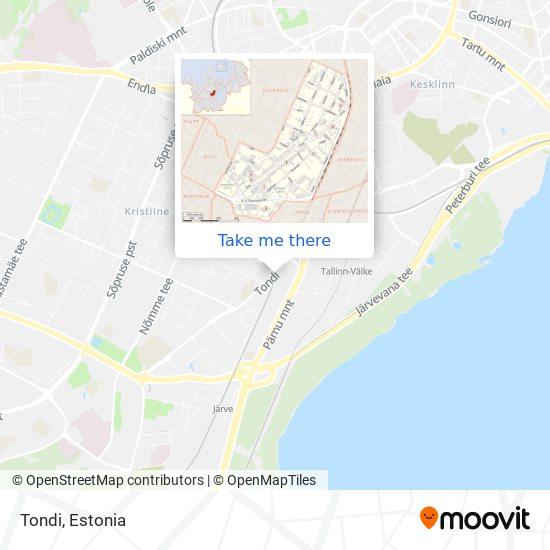 Tondi map
