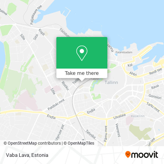 Vaba Lava map