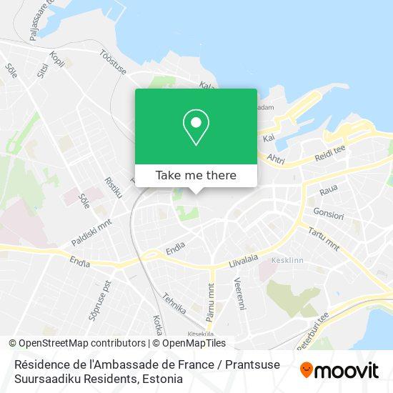 Résidence de l'Ambassade de France / Prantsuse Suursaadiku Residents map