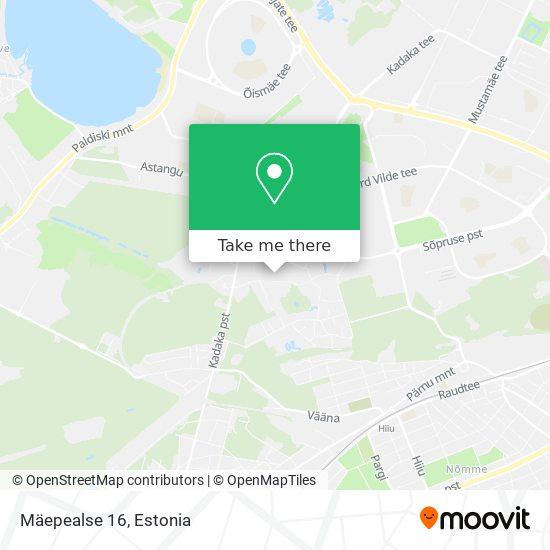 Mäepealse 16 map