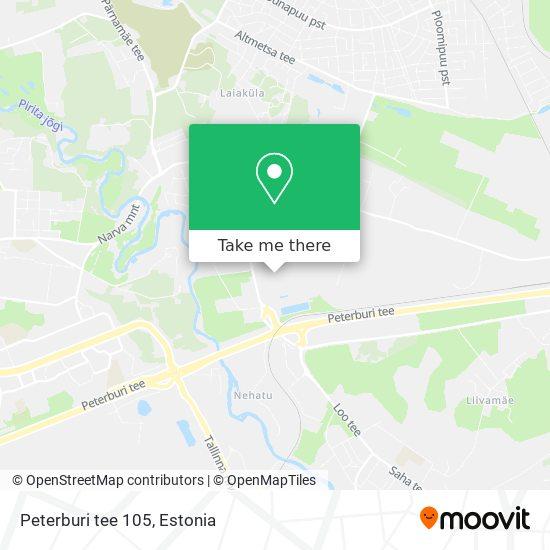 Peterburi tee 105 map