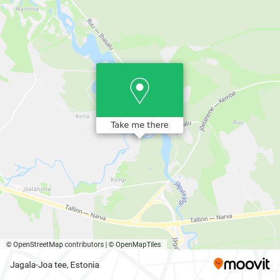 Jagala-Joa tee map