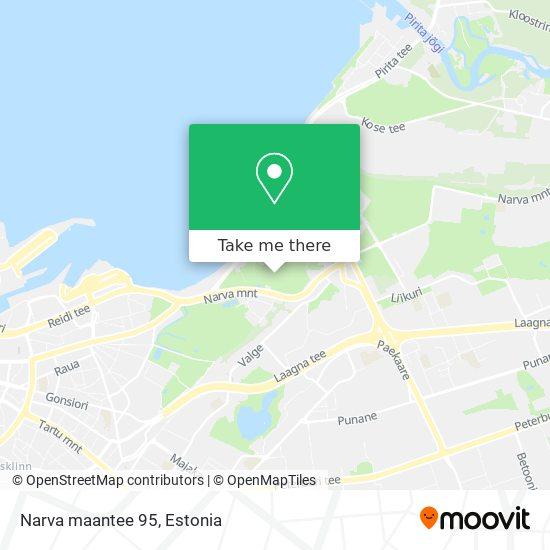 Narva maantee 95 map