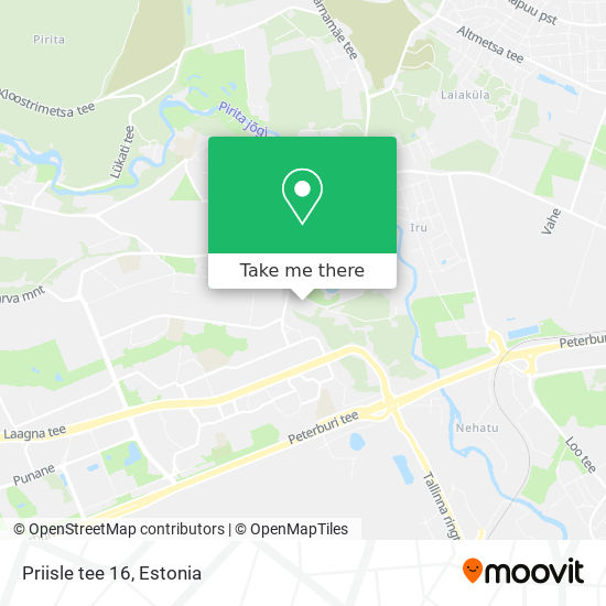 Priisle tee 16 map